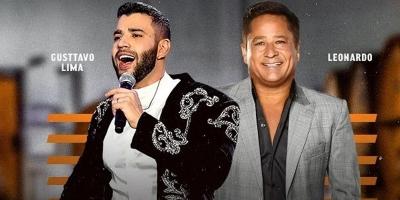 """Veja agora como foi a live """"Cabaré"""", com Gusttavo Lima e Leonardo"""